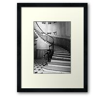Stair and bike Framed Print