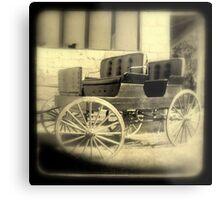 Wagon in sepia w/soft focus Metal Print