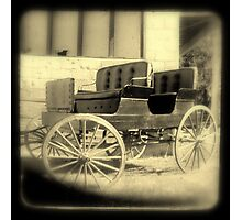 Wagon in sepia w/soft focus Photographic Print