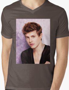 Xavier Samuel - Riley Biers Twilight Mens V-Neck T-Shirt