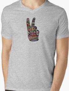 Peace tshirts Mens V-Neck T-Shirt