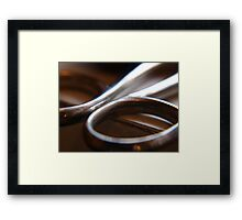 to cut or not to cut... Framed Print