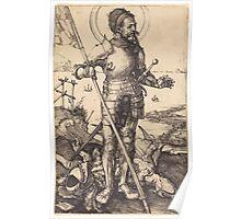 Albrecht Dürer or Durer Saint George Standing Poster