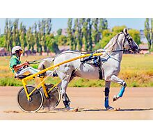 Horse races Photographic Print