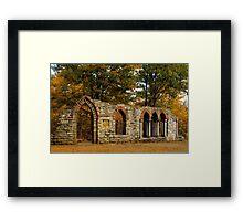 Ruins among the leaves Framed Print