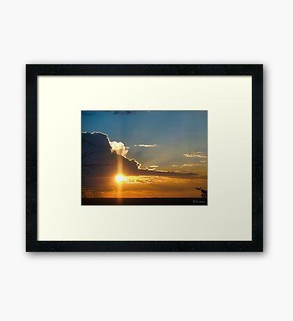 Beautiful sunset sky Framed Print