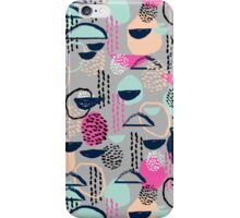 Rumba - pattern print retro cool hipster art colorful feminine shapes abstract iPhone Case/Skin