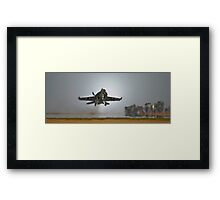 Hornet Away (Wide Angle) Framed Print
