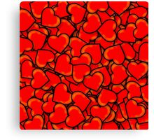 Hearts (Valentine's Day) Canvas Print