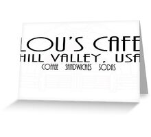 Lou's Cafe Greeting Card