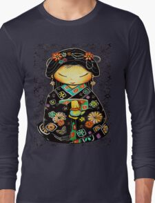 Little Multicolour Teapot Floral  Long Sleeve T-Shirt