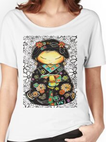 Little Multicolour Teapot Floral  Women's Relaxed Fit T-Shirt