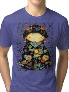 Little Multicolour Teapot Floral  Tri-blend T-Shirt