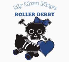 My Mom Plays Roller Derby (Girl) One Piece - Long Sleeve