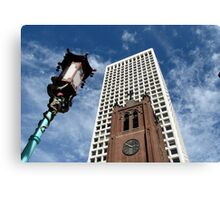 San Francisco Chinatown juxtaposition Canvas Print