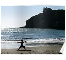 Yoga on Muir Beach Poster