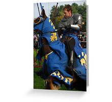 Charging Into Battle Greeting Card