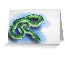 Jaded Serpent Greeting Card