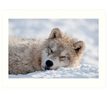 I lay my head down to sleep Art Print