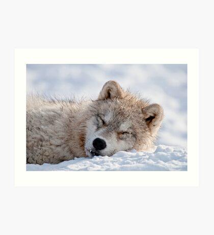 I lay my head down to sleep Art Print