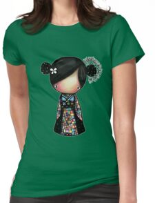 patchwork kimono Womens Fitted T-Shirt