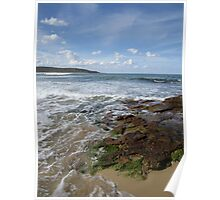 At the rock pools Poster
