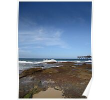 Froth and bubble at the rock pools Poster