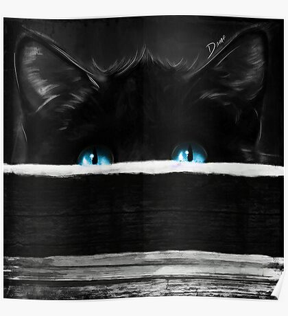 Sneaky Kitty BlueEyes Poster