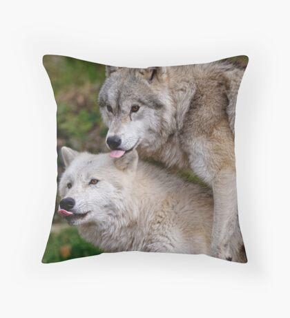 Double Raspberry  Throw Pillow