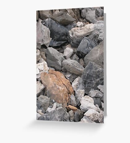 Multi-Colored Volcanic Rocks Greeting Card