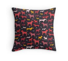 Dogs Funny Throw Pillow