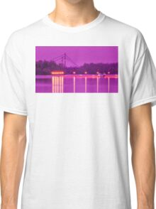 View of the marina of boats on the river Classic T-Shirt