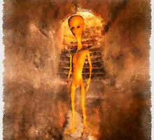Alien in Tunnnel by Raphael Terra by esotericaart