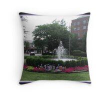 Bronxville Fountain Throw Pillow