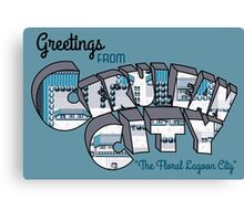 Greetings from Cerulean City Canvas Print