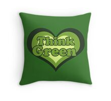 Thank green for earth day Throw Pillow