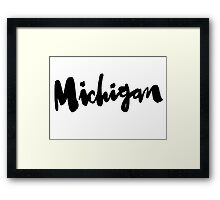 Michigan Framed Print