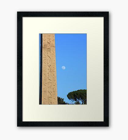 Luna Language Framed Print