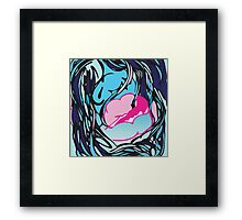 Mouth (Pieces Series) Framed Print