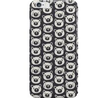 Sad Bears Black & White Pattern iPhone Case/Skin