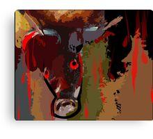 Blood shedding animal Canvas Print