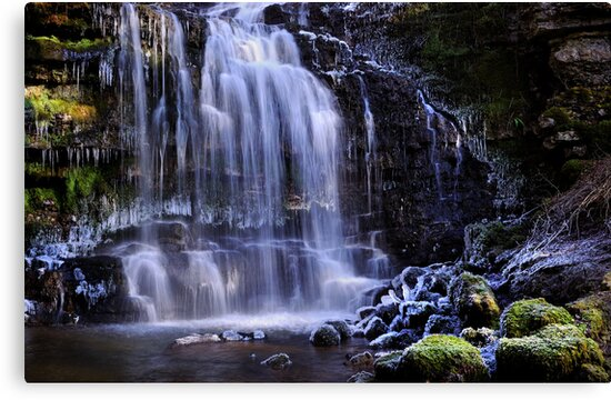 Scaleber Force in winter - The Yorkshire Dales by Dave Lawrance