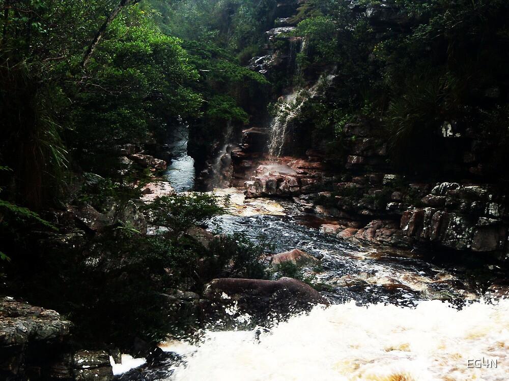 Waterfall - Brazil, Lençois by Elliott  Egan