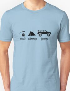 Eat sleep jeep screenprint fun geek funny nerd Unisex T-Shirt