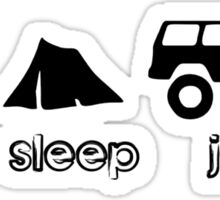 Eat sleep jeep screenprint fun geek funny nerd Sticker