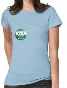 The Inbetweeners - Hi I am Will Big Gay Green badge Womens Fitted T-Shirt