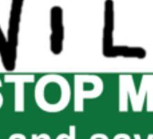 The Inbetweeners - Hi I am Will Big Gay Green badge Sticker