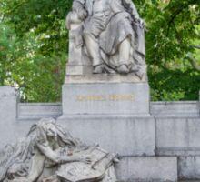 Johannes Brahms Memorial, Vienna Austria Sticker