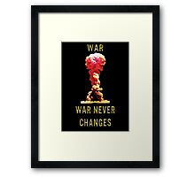"Fallout ""War Never Changes"" Framed Print"