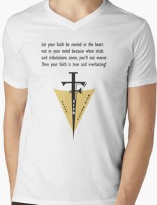 Faith Mens V-Neck T-Shirt